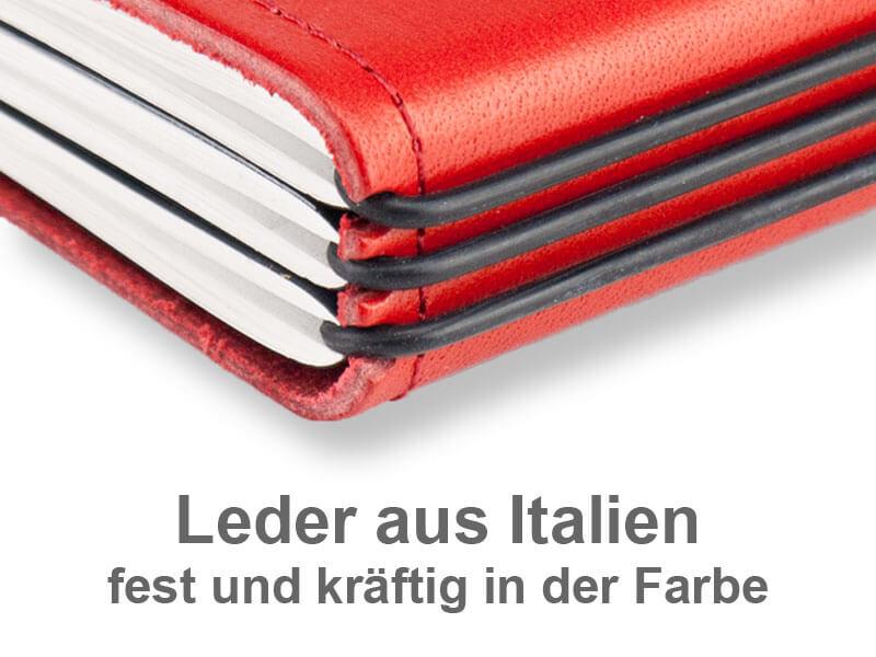A5+ Quer Hülle Leder glatt für 1-3 Einlagen