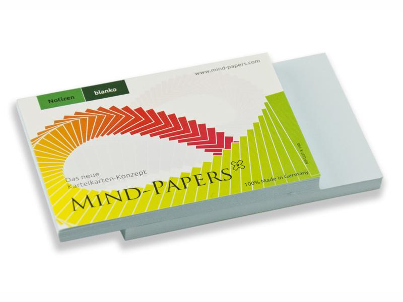DIN A7 Mind-Papers Nachfüllpack, 100 Karteikarten, Farbe: hellblau
