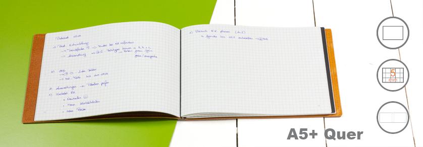 A5 QUER Notizbücher