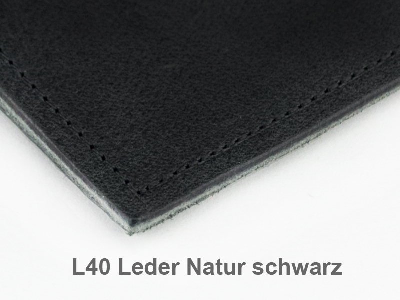 A7 1er Adressbuch Leder natur schwarz