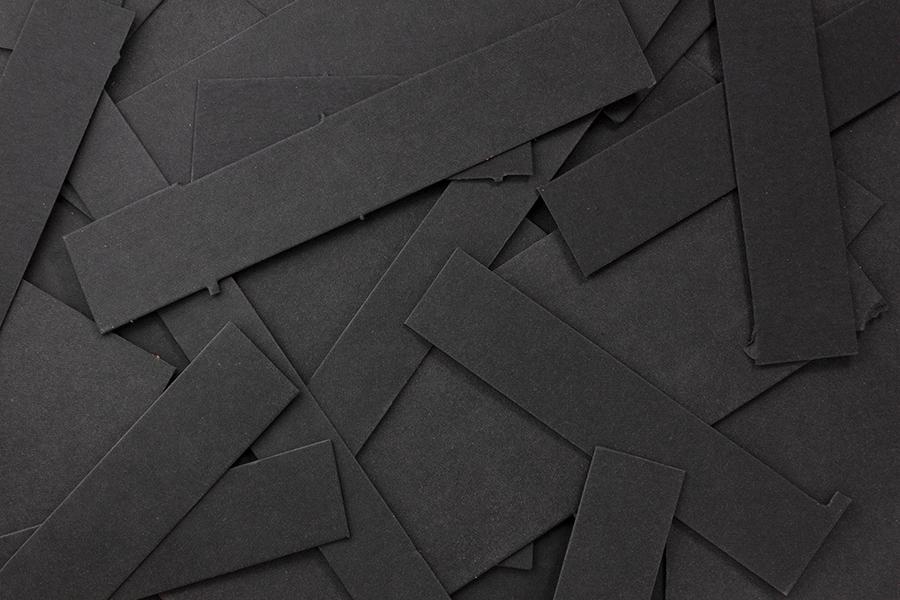 Texonreste schwarz - veganes Material