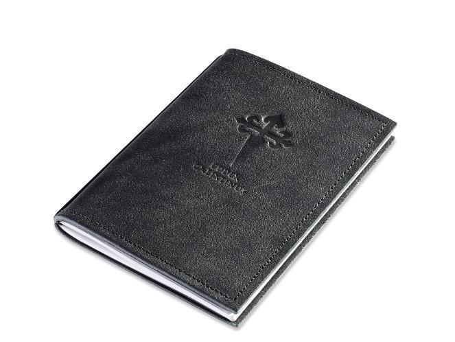 A6 1er Leder natur schwarz Pilger-Tagebuch, 1 Einlage