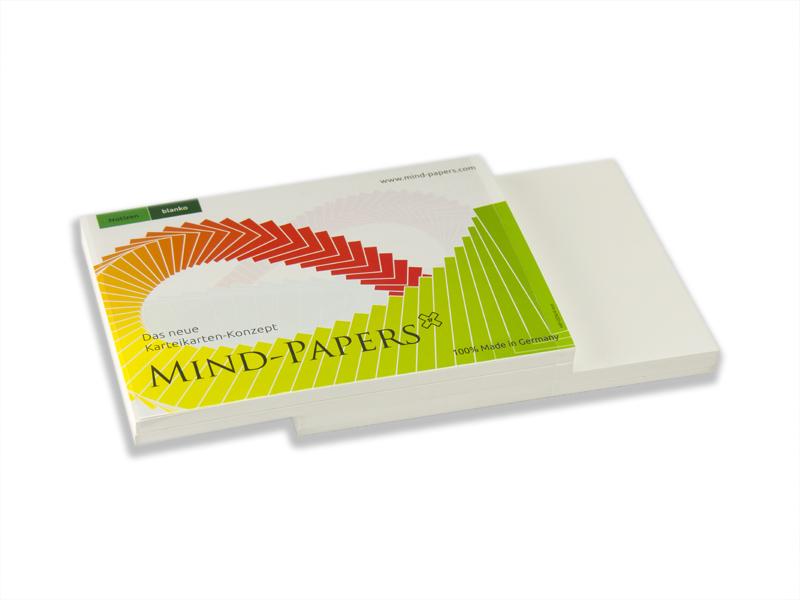 DIN A6 Mind-Papers Nachfüllpack, 100 Karteikarten, Farbe: weiß