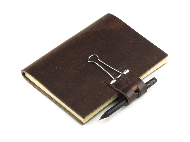 A6 Mind-Papers LeatherSkin, marone