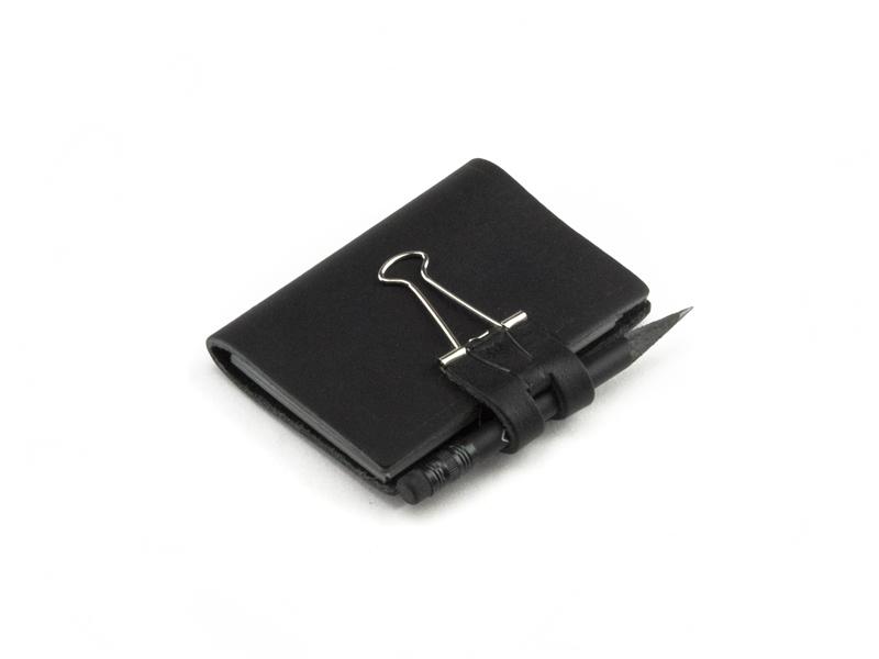 A8 Mind-Papers Leder natur, schwarz