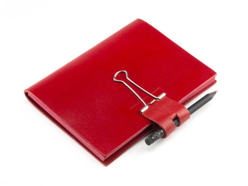 A6 Mind-Papers Leder glatt, rot