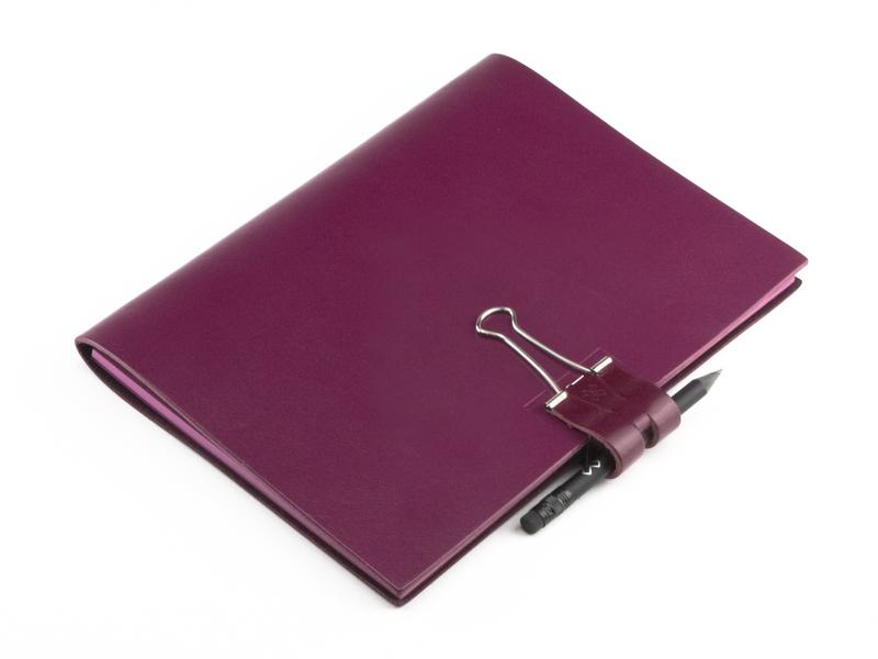 A5 Mind-Papers Leder Glatt, violett
