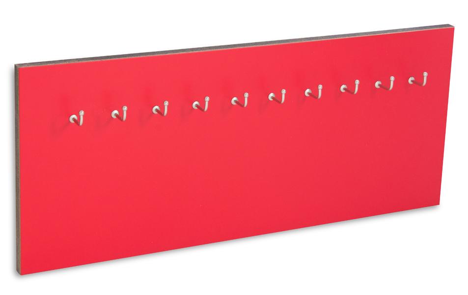 X17 Schlüsselbrett 10er Lefa rot