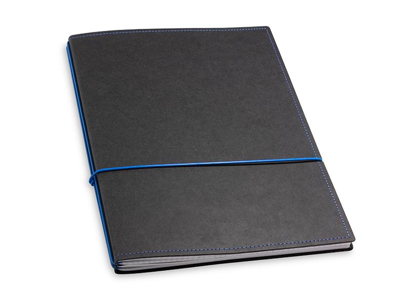A4+ 2er Texon schwarz / blau mit 2 x Notizen und Doppeltasche