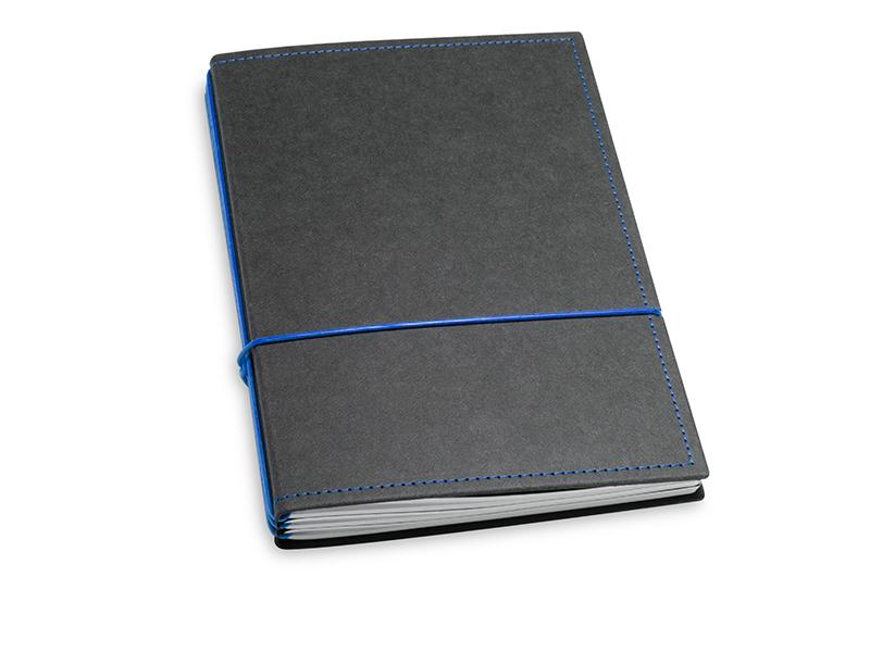 A5 3er Notizbuch Texon schwarz / blau, Notizenmix