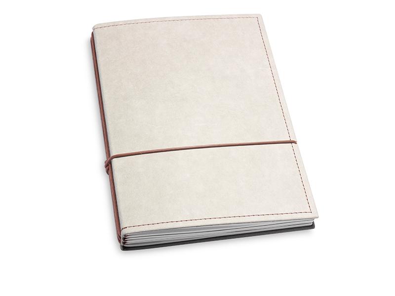 A5 3er Notizbuch Texon stone / braun, Notizenmix