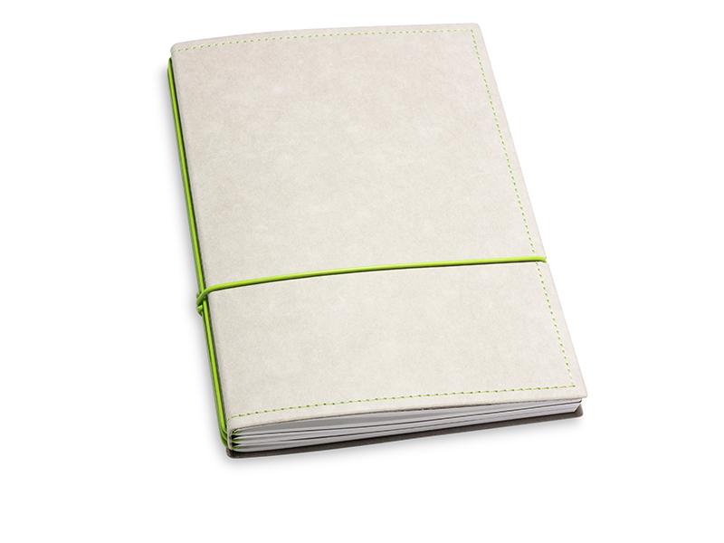 A5 3er Notizbuch Texon stone / grün, Notizenmix