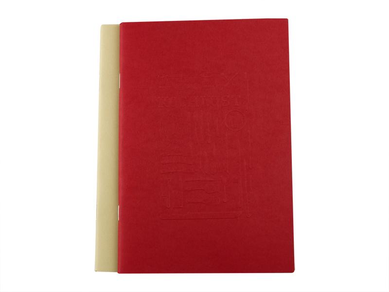 Kochlust Einlage mit Umschlägen in rot + beige